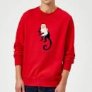 friends-marcel-the-monkey-sweatshirt-red-s-rot