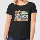 cartoon-network-logo-characters-women-s-t-shirt-black-4xl-schwarz
