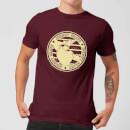 johnny-bravo-sports-badge-men-s-t-shirt-burgundy-s-burgunderrot
