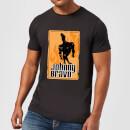 johnny-bravo-fire-men-s-t-shirt-black-5xl-schwarz
