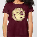 johnny-bravo-sports-badge-women-s-t-shirt-burgundy-s-burgunderrot