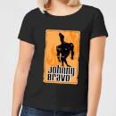 johnny-bravo-fire-women-s-t-shirt-black-5xl-schwarz