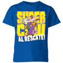 cow-and-chicken-supercow-al-rescate-kids-t-shirt-royal-blue-7-8-jahre-royal-blue