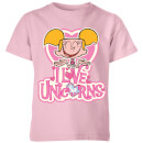 dexters-lab-dee-dee-i-love-unicorns-kids-t-shirt-baby-pink-7-8-jahre-baby-pink
