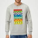 disney-donald-duck-vintage-pattern-sweatshirt-grau-5xl-grau