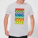 disney-donald-duck-vintage-pattern-herren-t-shirt-grau-3xl-grau