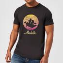 disney-aladdin-flying-sunset-herren-t-shirt-schwarz-xl-schwarz