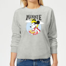disney-mickey-mouse-queen-minnie-damen-sweatshirt-grau-l-grau