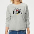 disney-minnie-mouse-vintage-bow-damen-sweatshirt-grau-l-grau