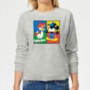 disney-mickey-and-donald-clothes-swap-damen-sweatshirt-grau-5xl-grau