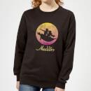 disney-aladdin-flying-sunset-damen-sweatshirt-schwarz-l-schwarz