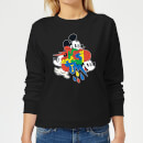 disney-mickey-mouse-vintage-arrows-damen-sweatshirt-schwarz-xl-schwarz