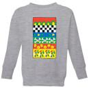 disney-donald-duck-vintage-pattern-kinder-sweatshirt-grau-3-4-jahre-grau