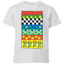 disney-donald-duck-vintage-pattern-kinder-t-shirt-grau-3-4-jahre-grau