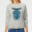 harry-potter-ravenclaw-drawn-crest-women-s-sweatshirt-grey-l-grau