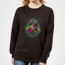 harry-potter-hogwarts-neon-crest-women-s-sweatshirt-black-l-schwarz