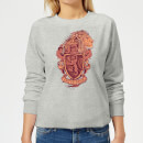 harry-potter-gryffindor-drawn-crest-women-s-sweatshirt-grey-l-grau