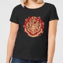 harry-potter-hogwarts-christmas-crest-women-s-t-shirt-black-xxl-schwarz