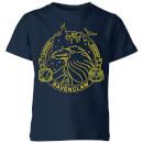 harry-potter-ravenclaw-raven-badge-kids-t-shirt-navy-3-4-jahre-marineblau