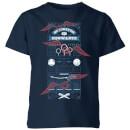 harry-potter-quidditch-at-hogwarts-kids-t-shirt-navy-3-4-jahre-marineblau