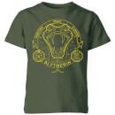 harry-potter-slytherin-snake-badge-kids-t-shirt-forest-green-3-4-jahre-forest-green