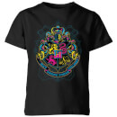 harry-potter-hogwarts-neon-crest-kids-t-shirt-black-3-4-jahre-schwarz