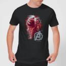 avengers-endgame-rocket-brushed-herren-t-shirt-schwarz-4xl-schwarz