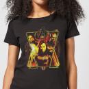 avengers-endgame-distressed-sunburst-damen-t-shirt-schwarz-4xl-schwarz