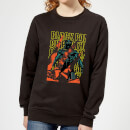 marvel-avengers-black-panther-collage-women-s-sweatshirt-black-4xl-schwarz