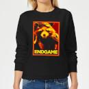 avengers-endgame-rocket-poster-women-s-sweatshirt-black-4xl-schwarz