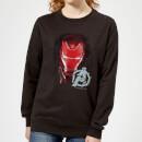 avengers-endgame-iron-man-brushed-damen-sweatshirt-schwarz-xs-schwarz