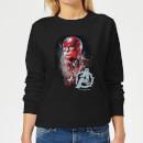 avengers-endgame-captain-america-brushed-damen-sweatshirt-schwarz-xs-schwarz