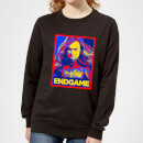 avengers-endgame-captain-marvel-poster-women-s-sweatshirt-black-3xl-schwarz
