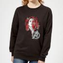 avengers-endgame-schwarz-widow-brushed-damen-sweatshirt-schwarz-5xl-schwarz, 28.99 EUR @ sowaswillichauch-de