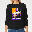 avengers-endgame-thanos-poster-women-s-sweatshirt-black-4xl-schwarz