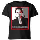 avengers-endgame-black-widow-poster-kids-t-shirt-black-7-8-jahre-schwarz