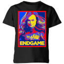 avengers-endgame-captain-marvel-poster-kids-t-shirt-black-5-6-jahre-schwarz