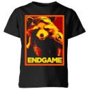 avengers-endgame-rocket-poster-kids-t-shirt-black-3-4-jahre-schwarz