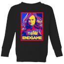 avengers-endgame-captain-marvel-poster-kids-sweatshirt-black-5-6-jahre-schwarz