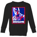 avengers-endgame-captain-america-poster-kids-sweatshirt-black-5-6-jahre-schwarz