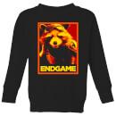 avengers-endgame-rocket-poster-kids-sweatshirt-black-7-8-jahre-schwarz