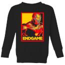 avengers-endgame-iron-man-poster-kids-sweatshirt-black-5-6-jahre-schwarz