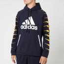 adidas Men's ID Fl GRFX Hoodie Black S Black