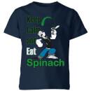 popeye-keep-calm-and-eat-spinach-kids-t-shirt-navy-7-8-jahre-marineblau