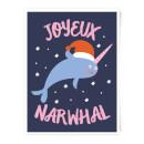 joyeux-narwhal-art-print-a4