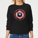 marvel-captain-america-wooden-shield-women-s-sweatshirt-black-xl-schwarz