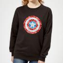 marvel-captain-america-pixelated-shield-women-s-sweatshirt-black-xl-schwarz