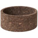 Broste Copenhagen Anon Cork Deco Bowl - Dark Natural