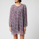Isabel Marant Women's Orion Blooming Silk M Dress - Faded Night