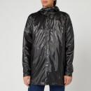 RAINS Short Coat - Shiny Black